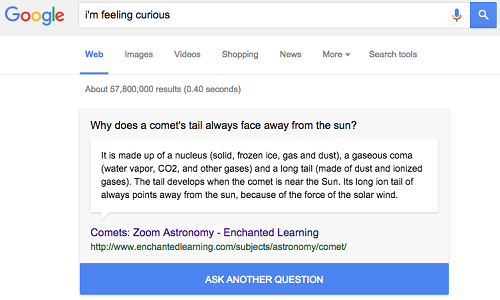 I'm-feeling-curious-Google-feature