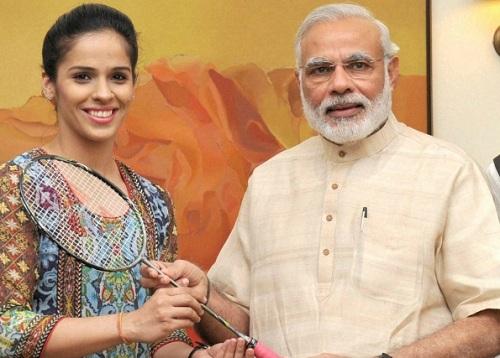 Saina-Meets-Modi