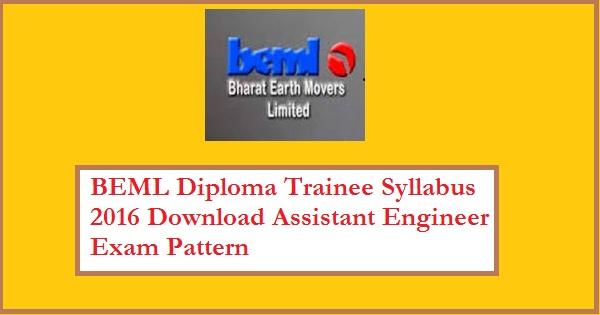 BEML-Diploma-Trainee-Syllabus-2016