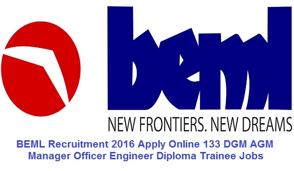 bemlindia.com - BEML Recruitment 2016 For 107 Vacancie