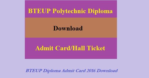 BTEUP-diploma-Admit-Card-2016
