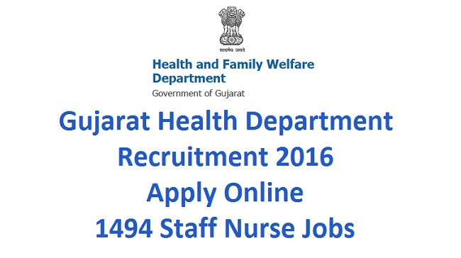 Gujarat Health Department Recruitment 2016
