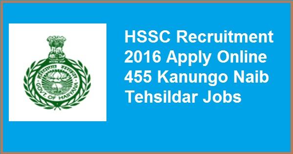 HSSC-recruitment-2016