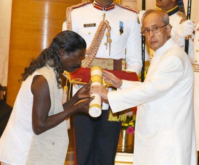Haldhar Nag Receives Padma Shri Award