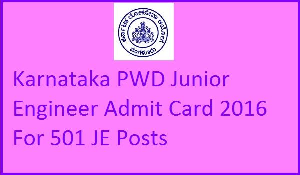 KPWD-JE-Admit-Card-2016