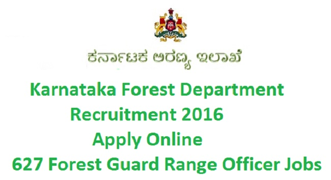 Karnataka Forest Department Notification 2016