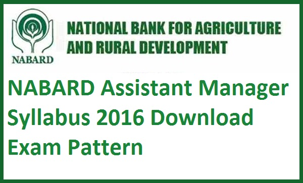 NABARD-Assistant-Manager-Syllabus-2016