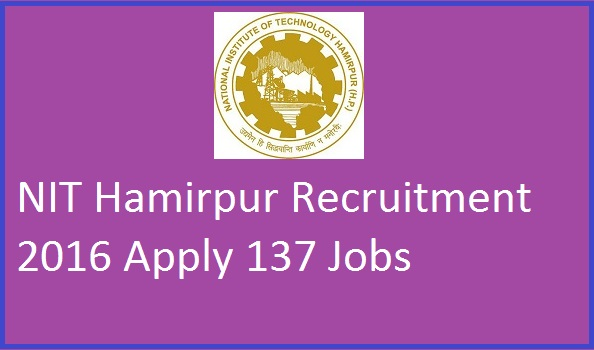 NIT-Hamirpur-Recruitment-2016