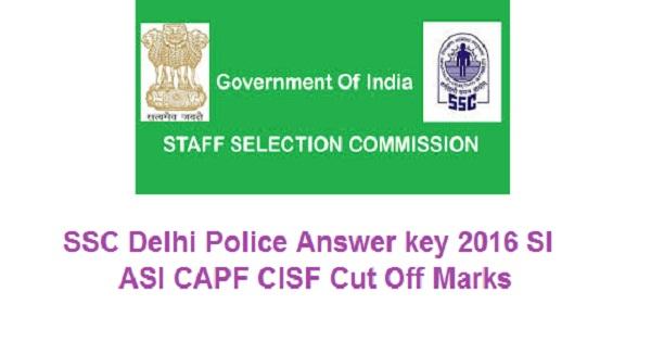 SSC-Delhi-Police-Answer-key-2016