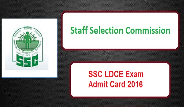 SSC-LDCE-Admit-Card-2016