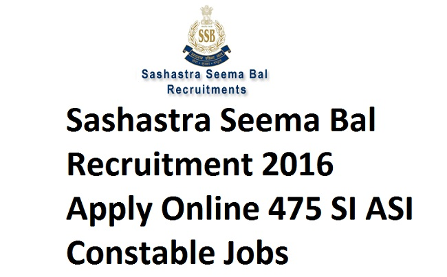 Sashastra Seema Bal Recruitment 2016