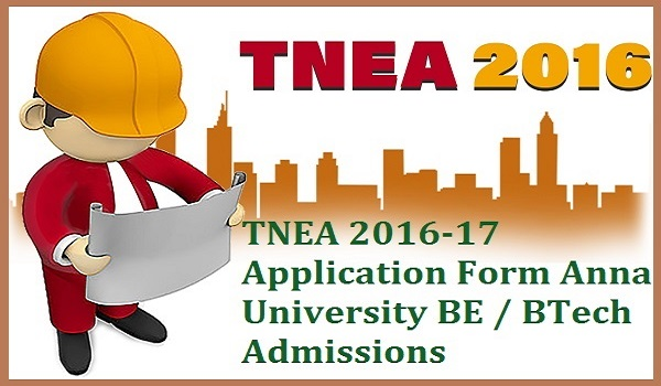 TNEA 2016 Admissions Application Form