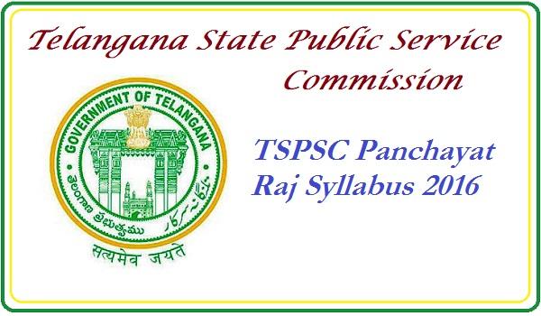 TSPSC-Panchayat-raj-syllabus-2016