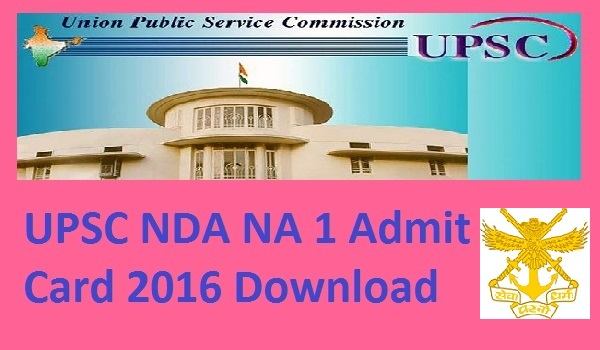 UPSC-NDA-NA-1-Admit-Card-2016