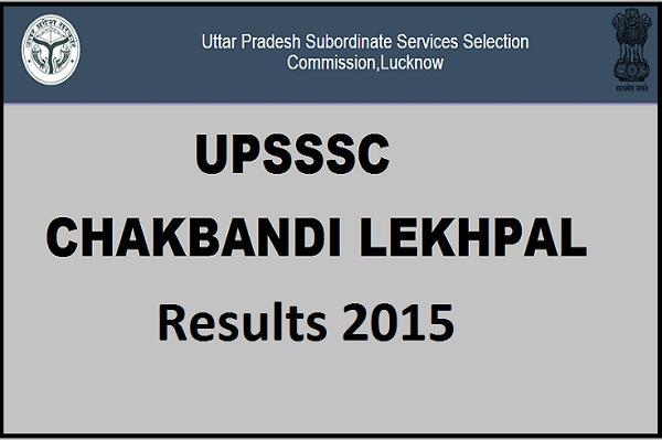 UPSSSC-Chakbandi-Lekhpal-Results