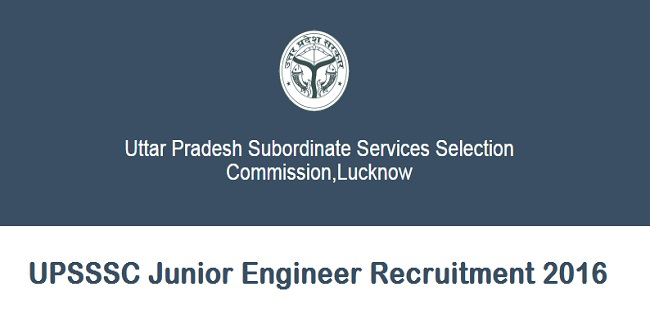 UPSSSC Junior Engineer Notification 2016