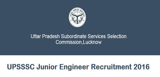 UPSSSC Junior Engineer Notification 2016