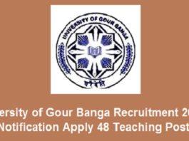 University ofGourBangaRecruitment