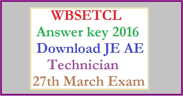 WBSETCL-Answer-Key-2016