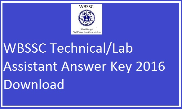 WBSSC-Technical-Lab-Assistant-Answer-Key
