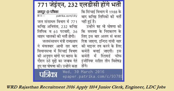 WCD-Rajasthan-Recruitment-Notification-2016