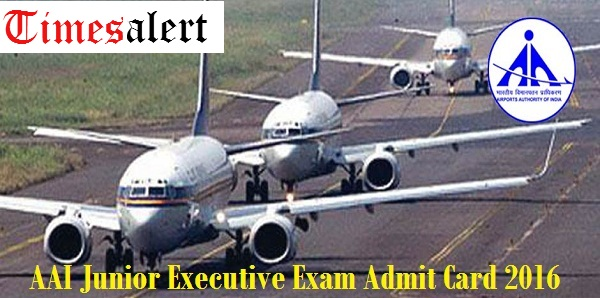 AAI Junior Executive ATC Admit Card 2016