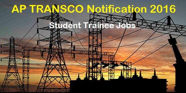 AP TRANSCO Student Trainee Recruitment 2016