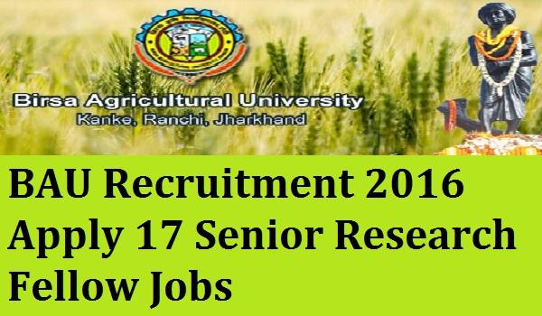 BAU-Recruitment-2016-Notification