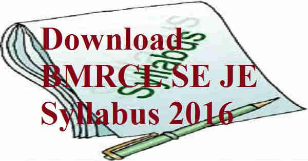 BMRCL-Syllabus-2016