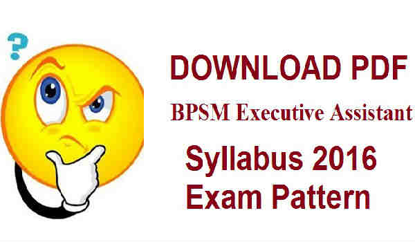 BPSM Executive Assistant Syllabus 2016