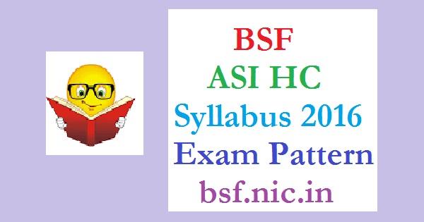 BSF-ASI-Syllabus-2016-Pattern