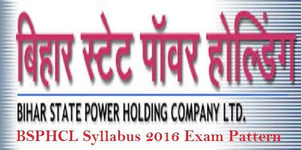 BSPHCL AEE Syllabus 2016