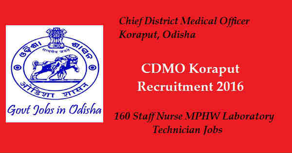 CDMO Koraput Recruitment 2016