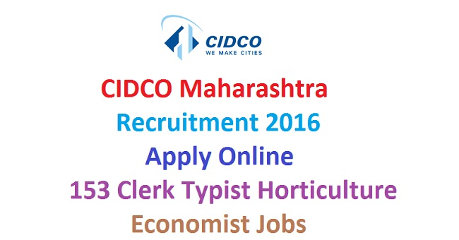 CIDCO Maharashtra Recruitment 2016