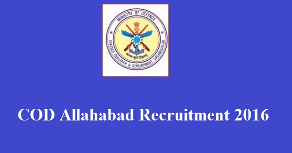 COD-Allahabad-Recruitment-2016