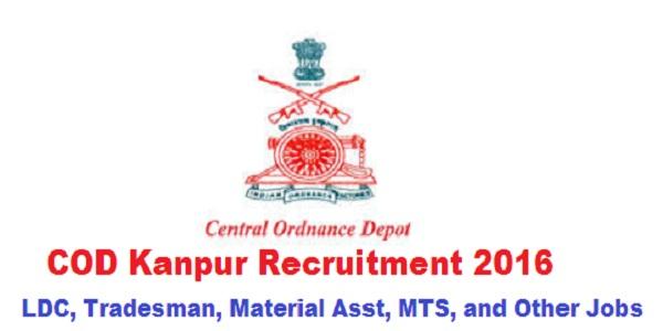 COD-Kanpur-Recruitment-2016
