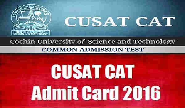 CUSAT-CAT-Admit-Card-2016