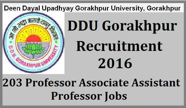 DDU-Gorakhpur-Recruitment-2016