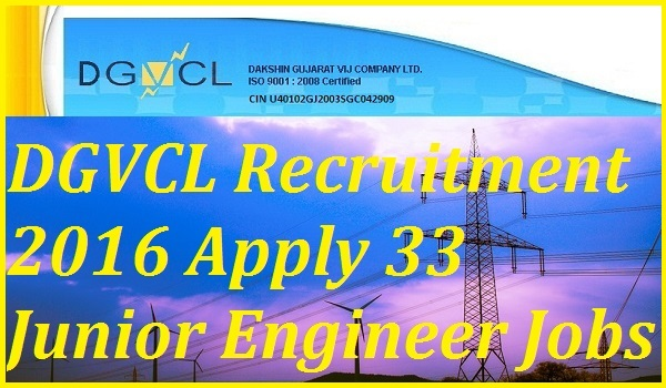 DGVCL-JE-Recruitment-2016