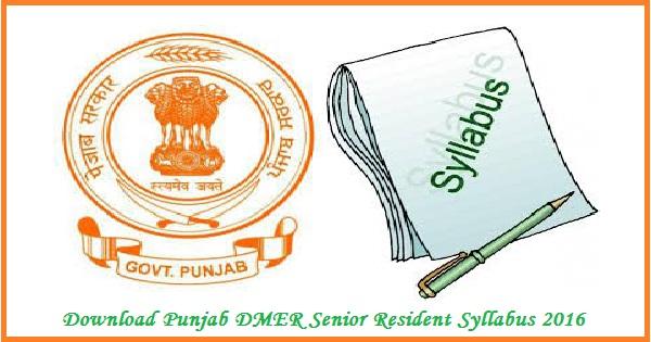 DMER-Punjab-Syllabus-2016