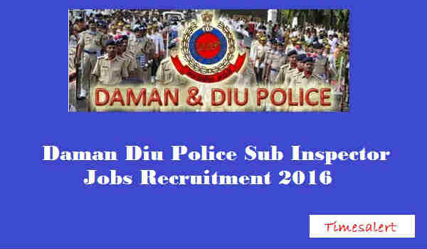 Daman & Diu Police Recruitment 2016