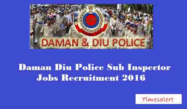 Daman & Diu Police Recruitment 2016