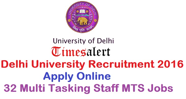 Delhi University Recruitment 2016