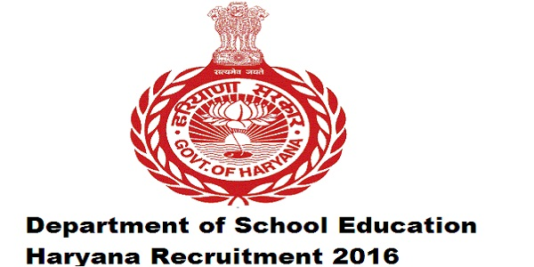 Department-of-School-Education-Haryana-Recruitment-2016