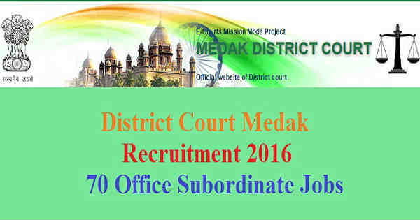 District Court Medak Recruitment 2016