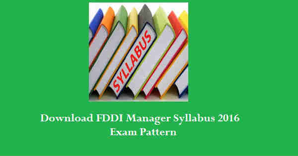 FDDI Manager Syllabus 2016