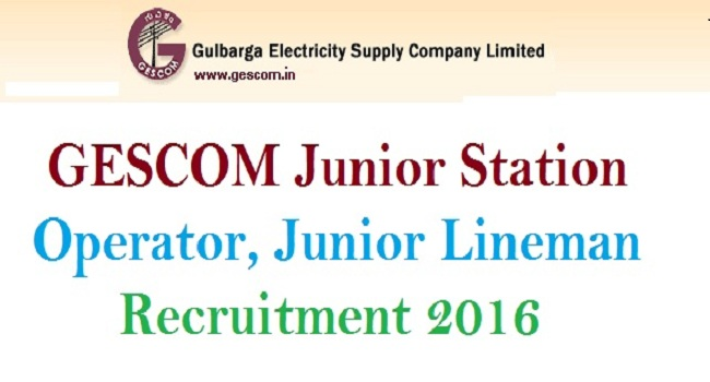 GESCOM Recruitment 2016