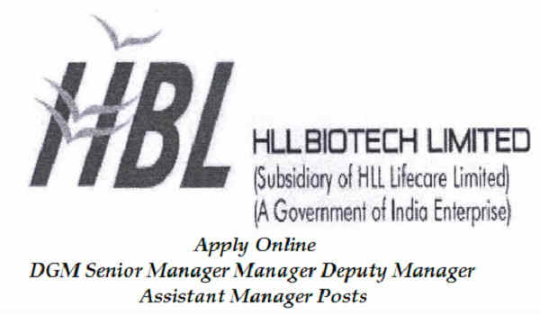 HLL Biotech Limited Recruitment 2016