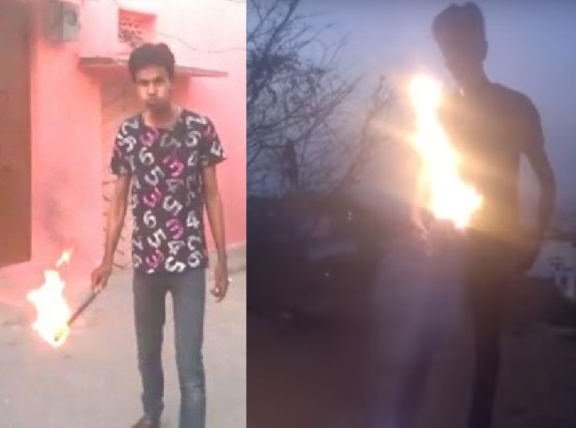 Hyderabad Youth Dies Performing Fire Stunt