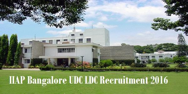IIAP-Bangalore-Recruitment-2016